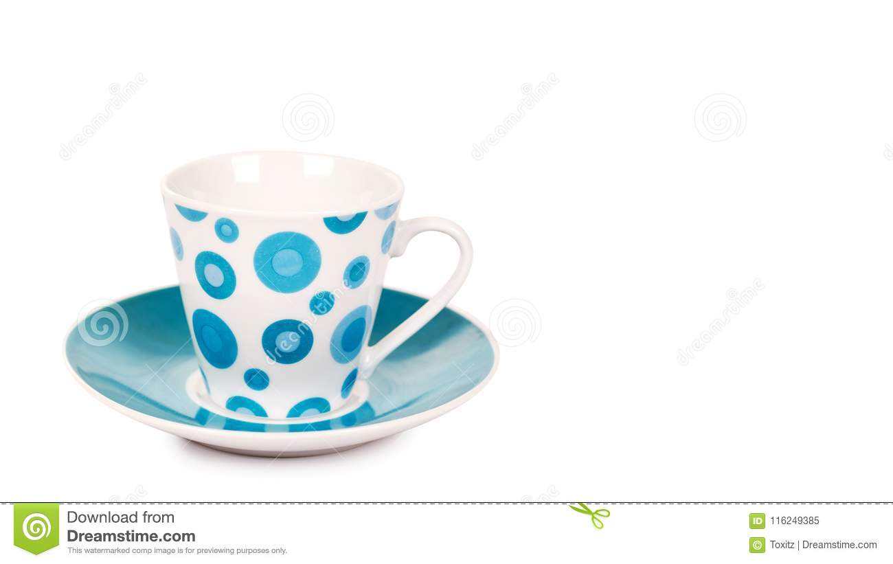 Color Cup And Saucer Isolated On White Background Copy Space Template Stock Image Image Of Dishware Ceramic 116249385