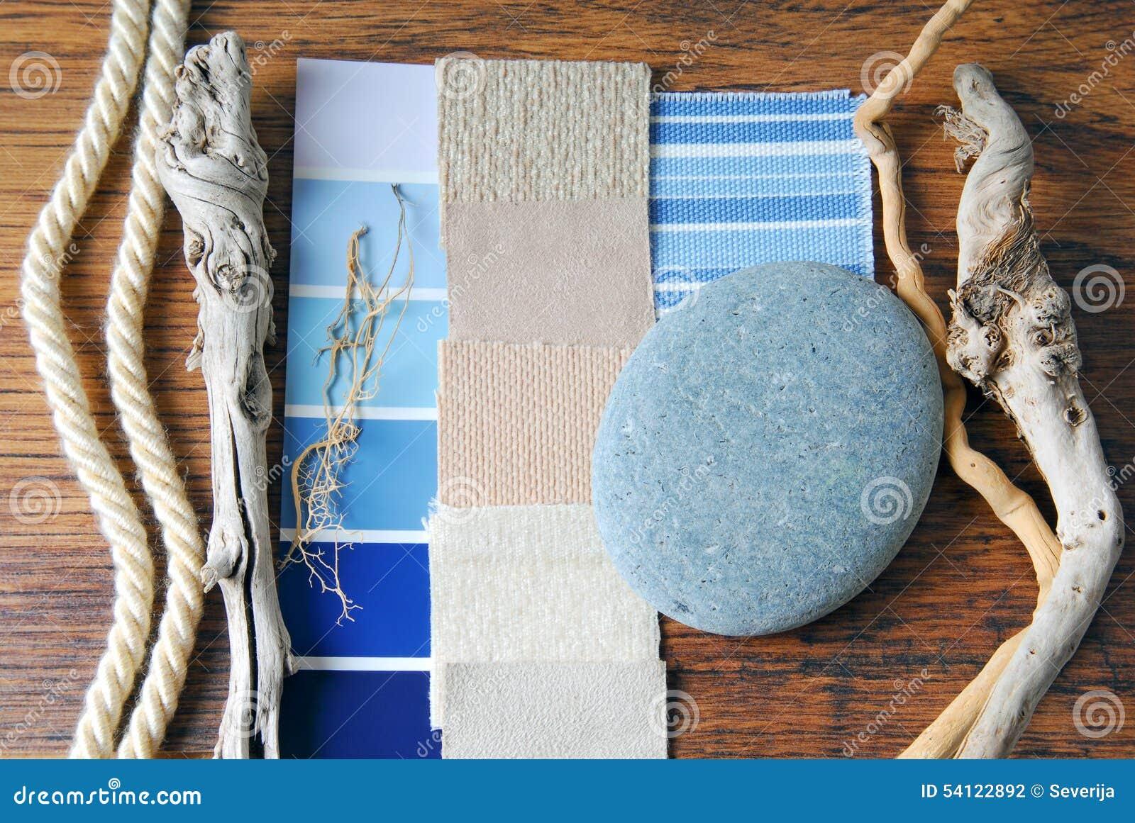 Color del diseño interior y planeamiento de la tapicería