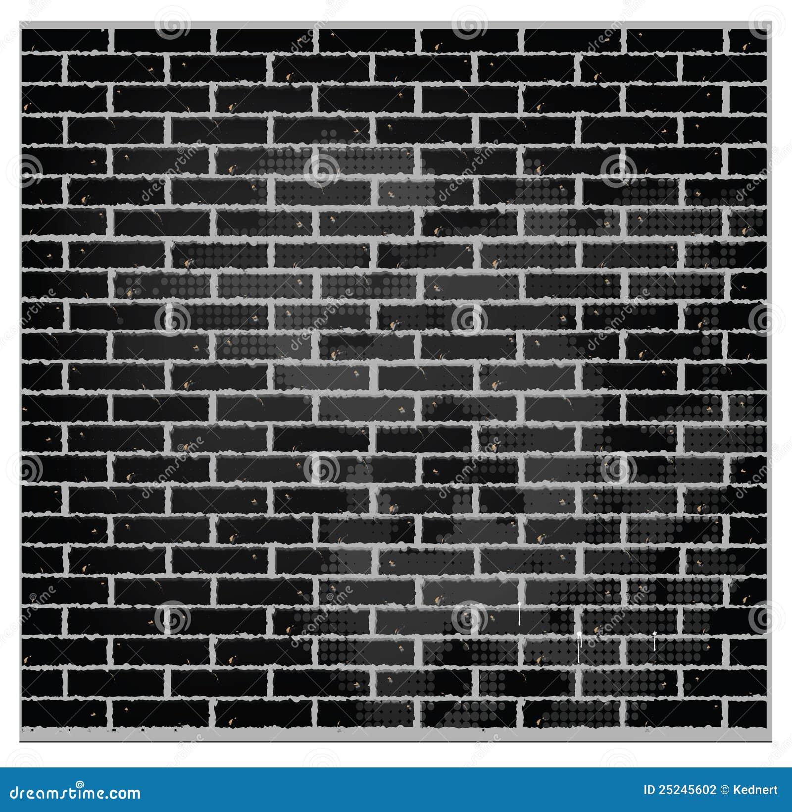 Color del negro de la pared de ladrillo de la textura del - Ladrillos de colores ...