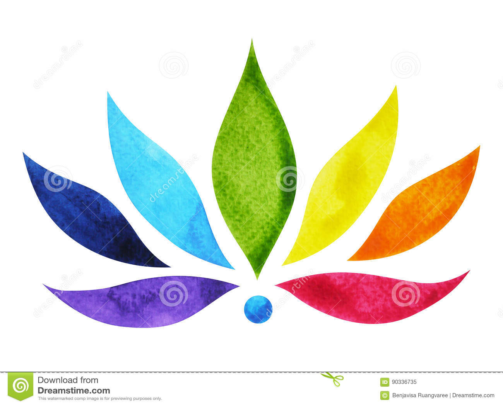 Color 7 del s mbolo de la muestra del chakra flor de loto for Muestras de colores de pintura