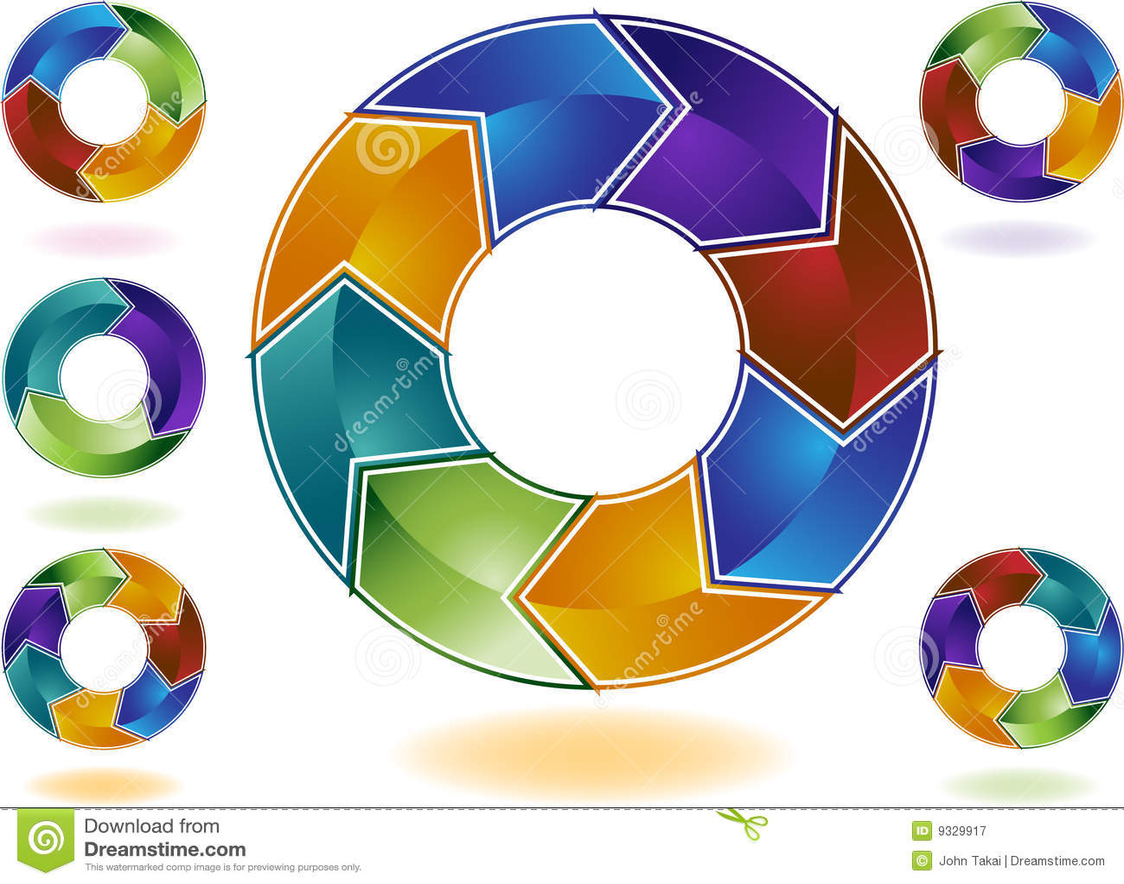Color den mång- behandlingen för cirkuleringen