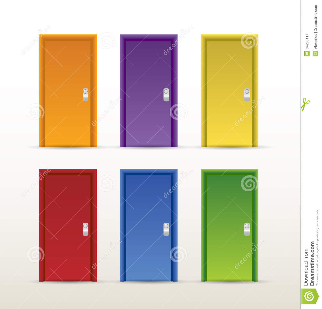 color doors illustration design royalty free stock photography