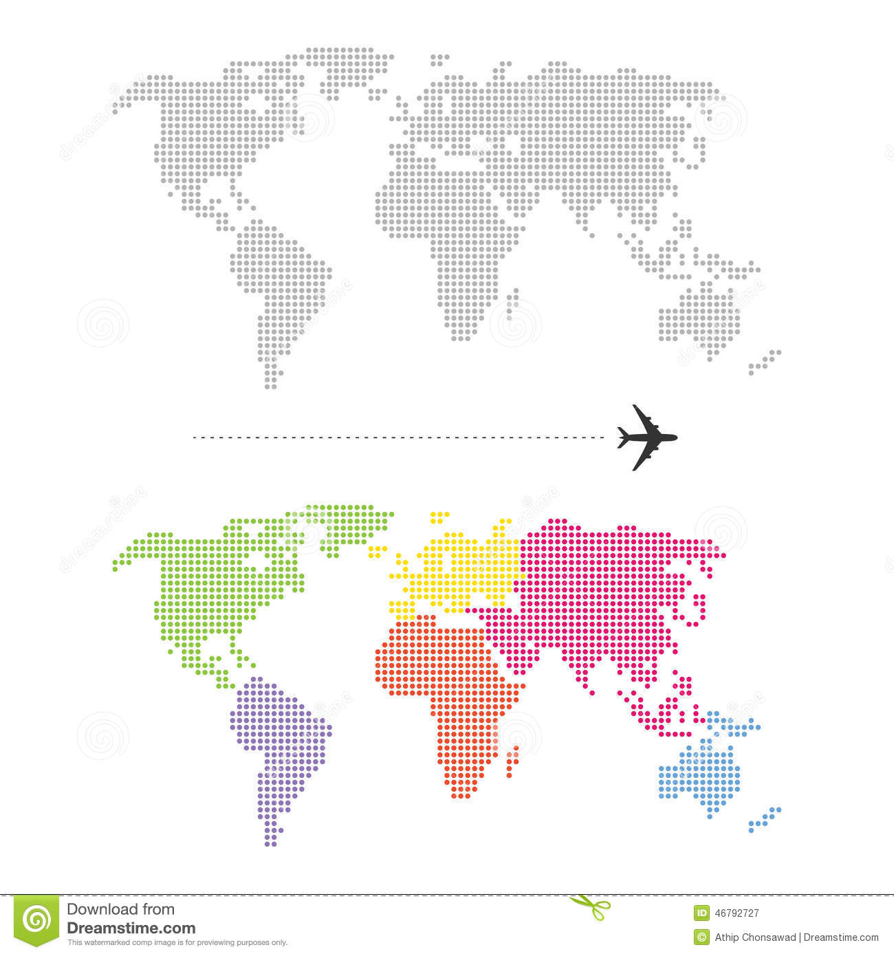 Color dotted world map stock vector illustration of computer color dotted world map gumiabroncs Gallery