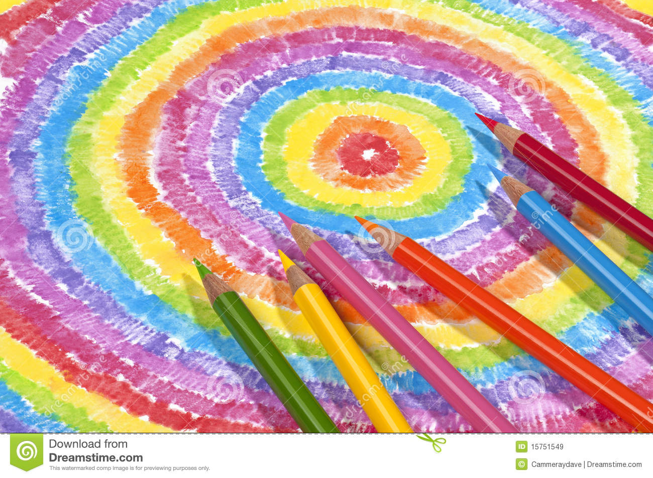 Color Drawing And Colored Pencils Stock Image - Image of colors ...