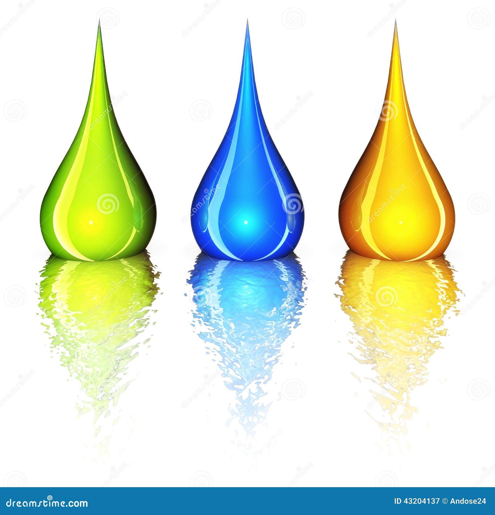 Download Color droppar stock illustrationer. Illustration av skrivare - 43204137