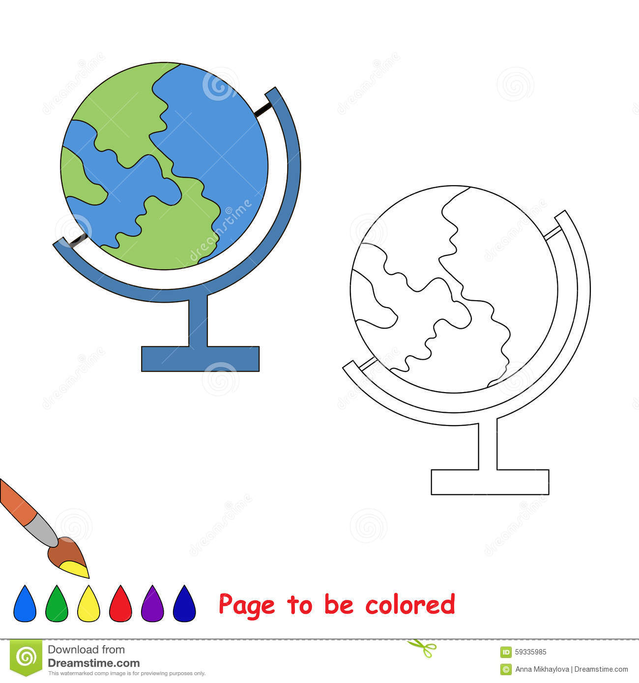 Color The EARTH By Sample Stock