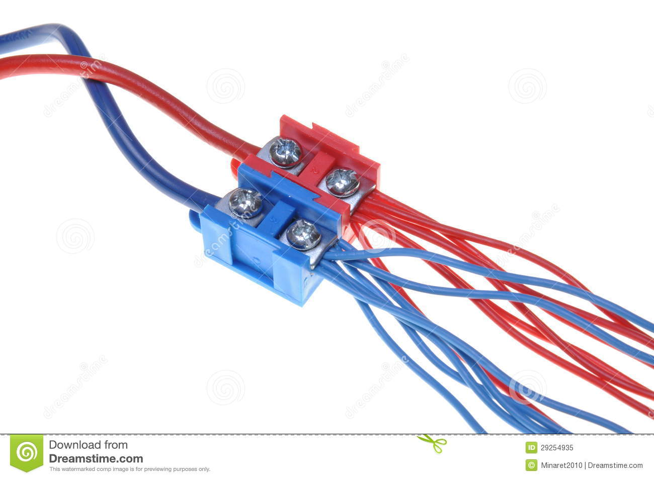 Color Electric Power Distribution Cable With Terminal Block Stock ...