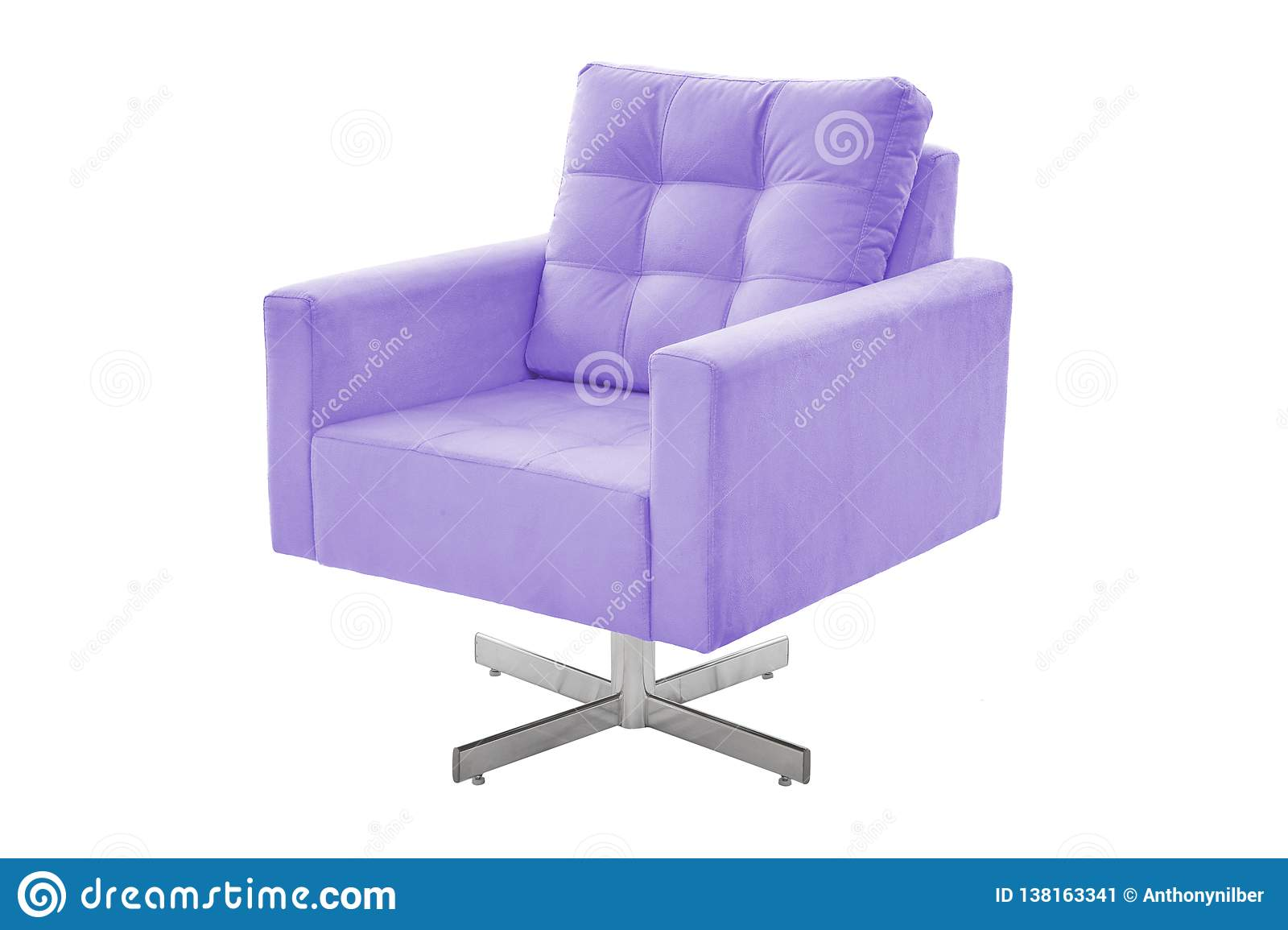 Color fabric and wood armchair modern designer