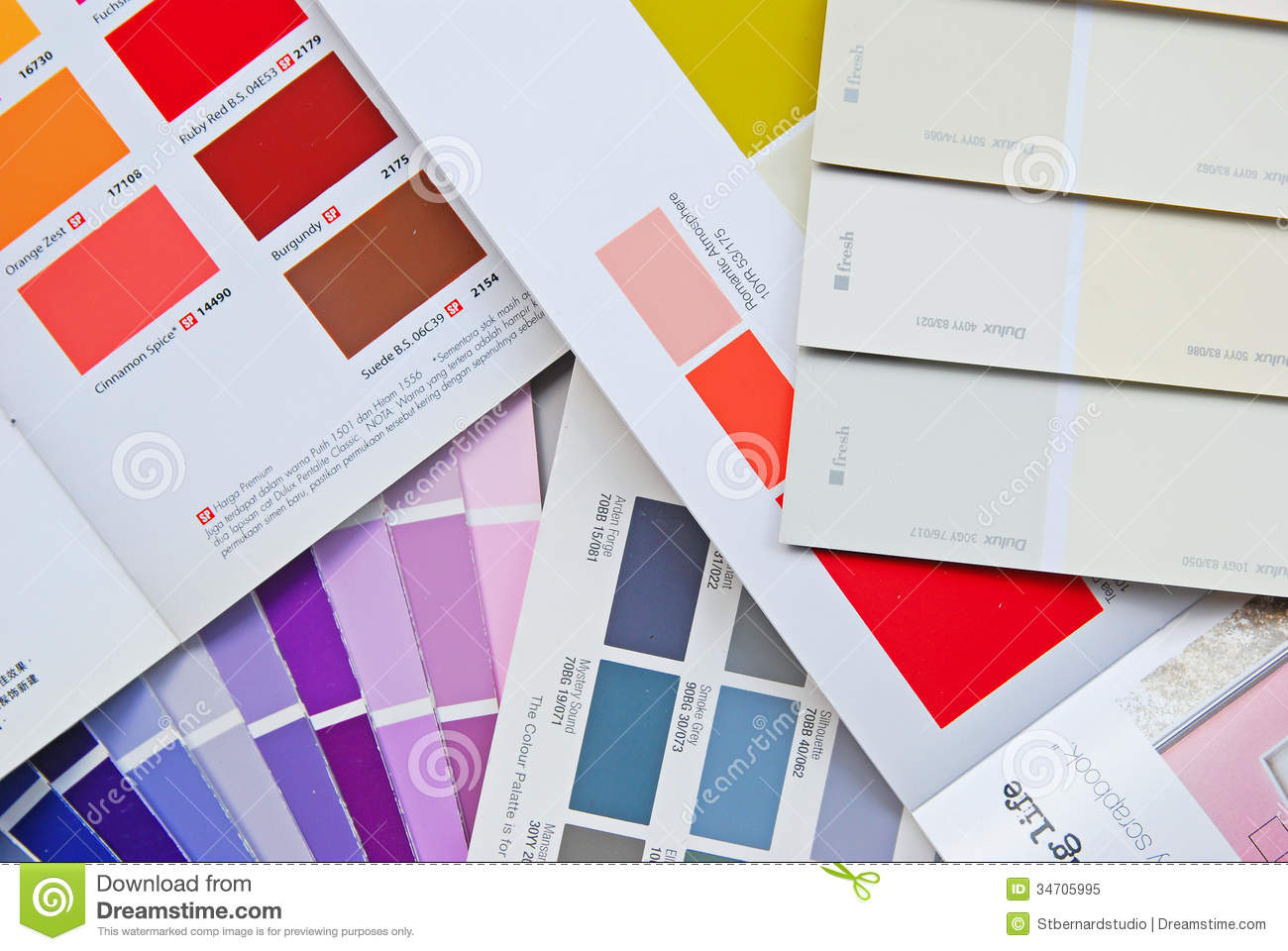 Color Fan Chart, Book, Catalog And Card For House Paint Editorial ...