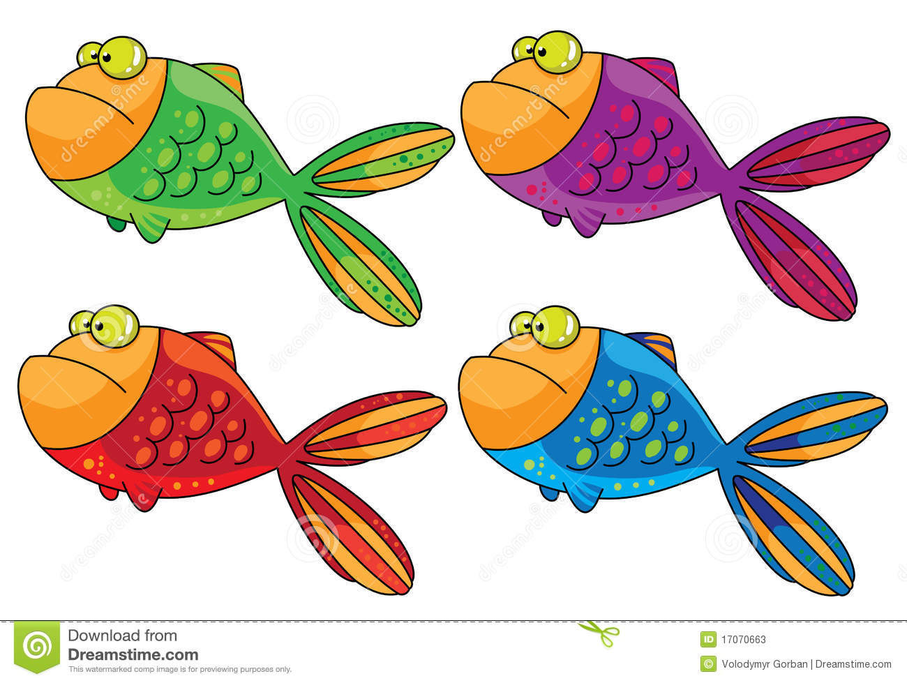 color fish stock vector illustration of water life 17070663