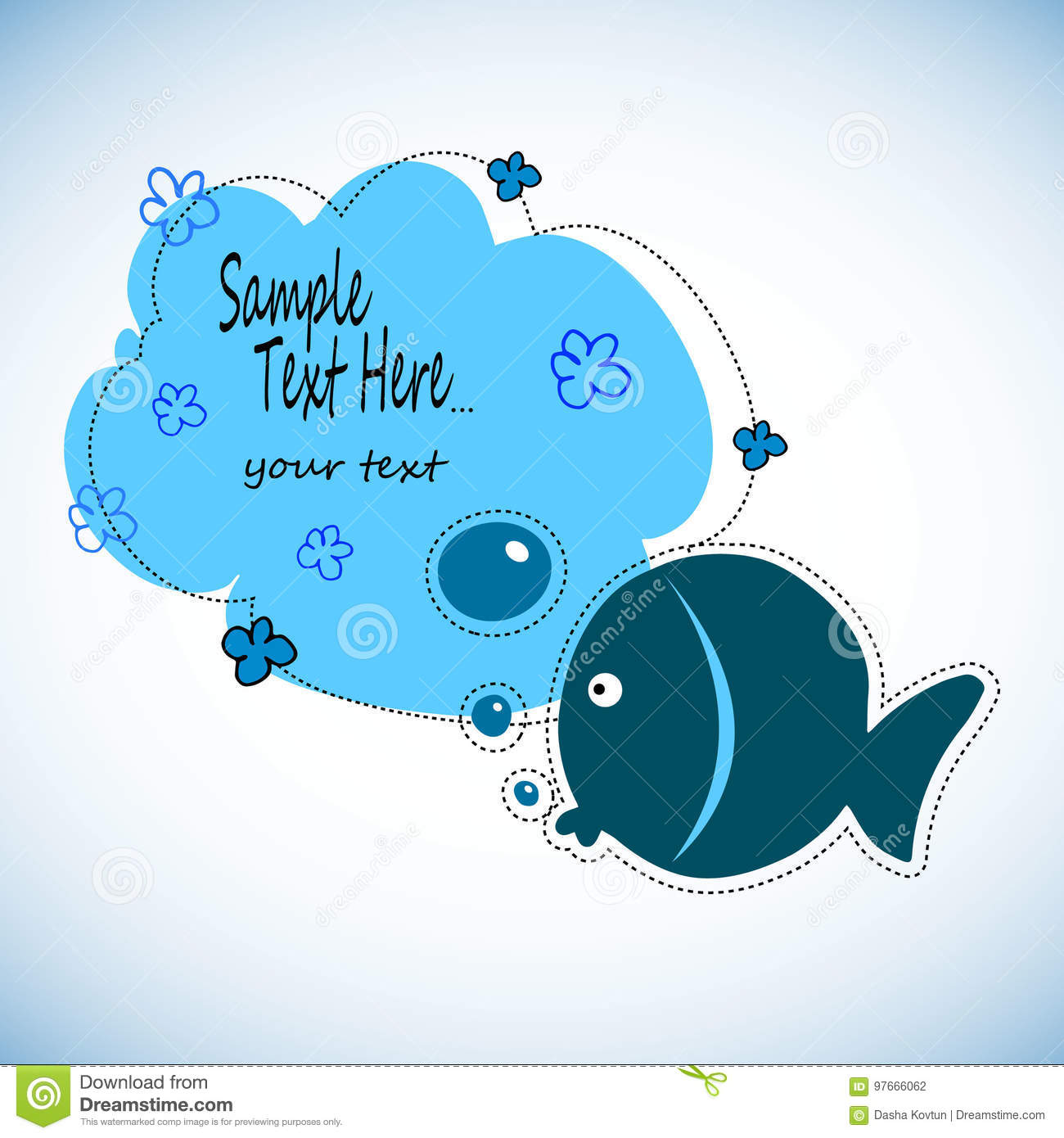 Color The Fish Drawing Activity. Educational Game For Preschool Aged ...