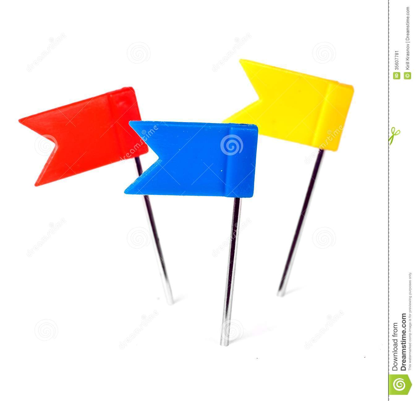 Color Flag Pins Photo Marker Push Pin Stock Image Image Of - Flag pins for maps