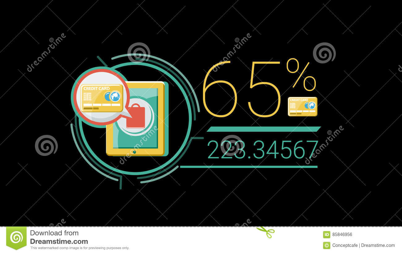 Color Flat Corporate Infographic Element With Alpha Channel Stock