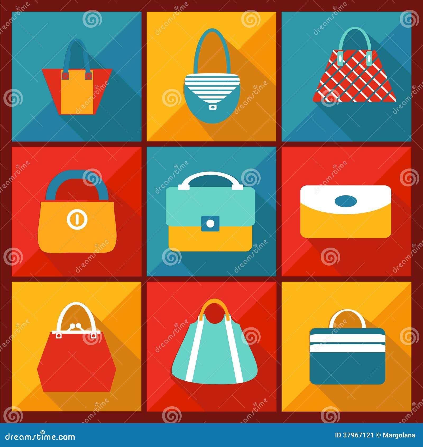 Color Flat Icon Of Fashion Bag Stock Image Image 37967121