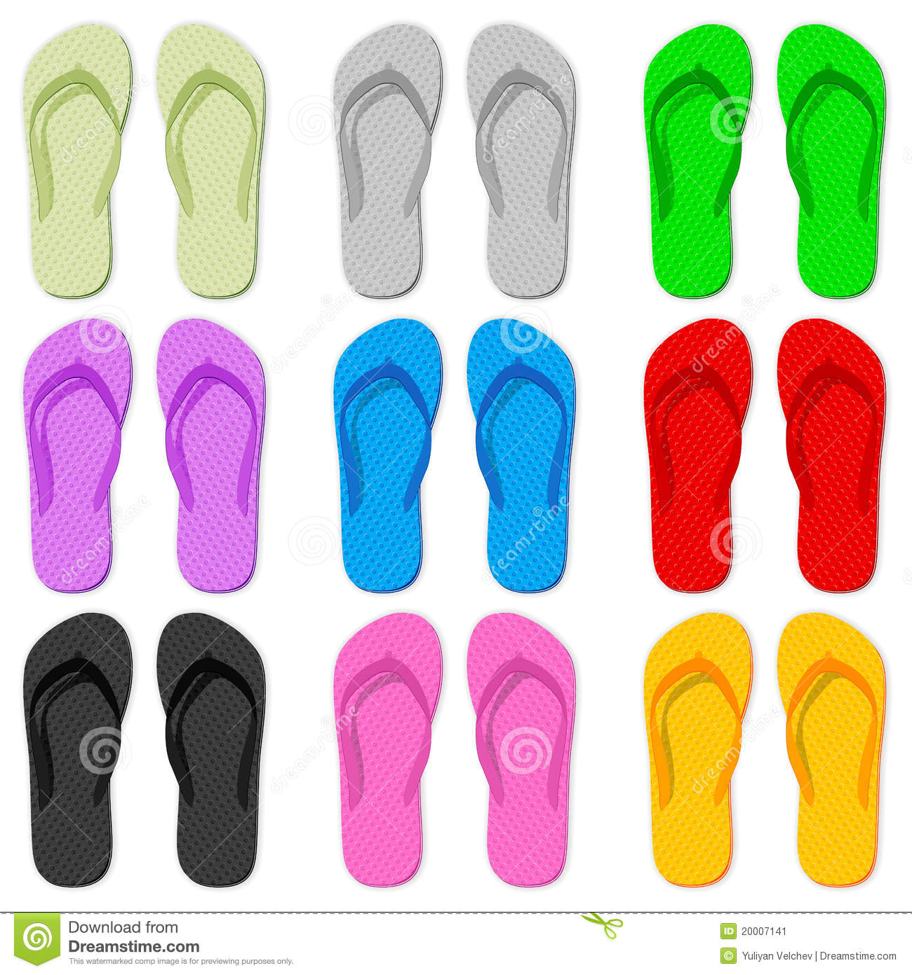 aa1919995f52 Flip flop set on a white background. Designers Also Selected These Stock  Illustrations. Notepad vector illustration