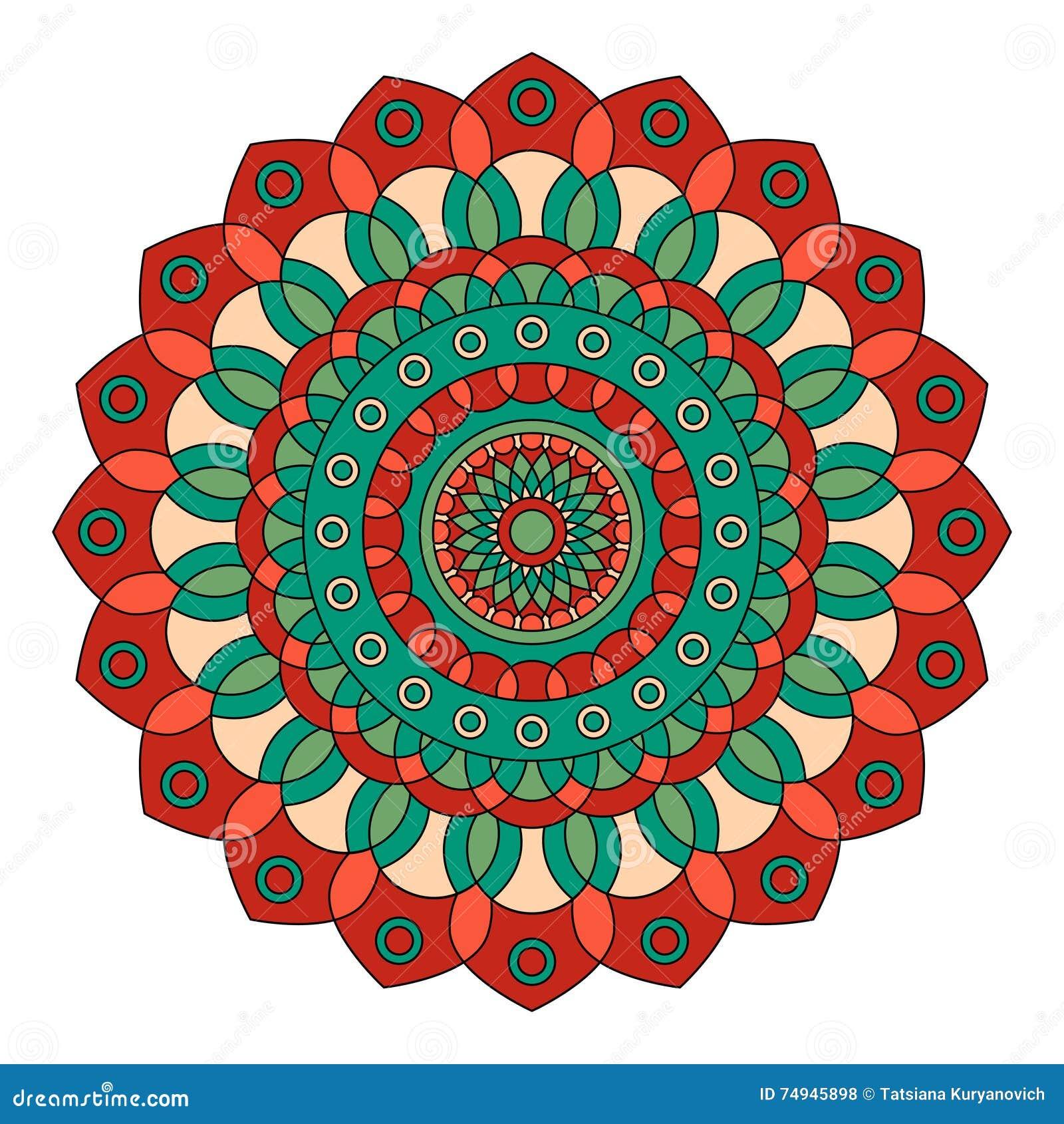 Download Color Floral Mandala Vector Illustration Stock