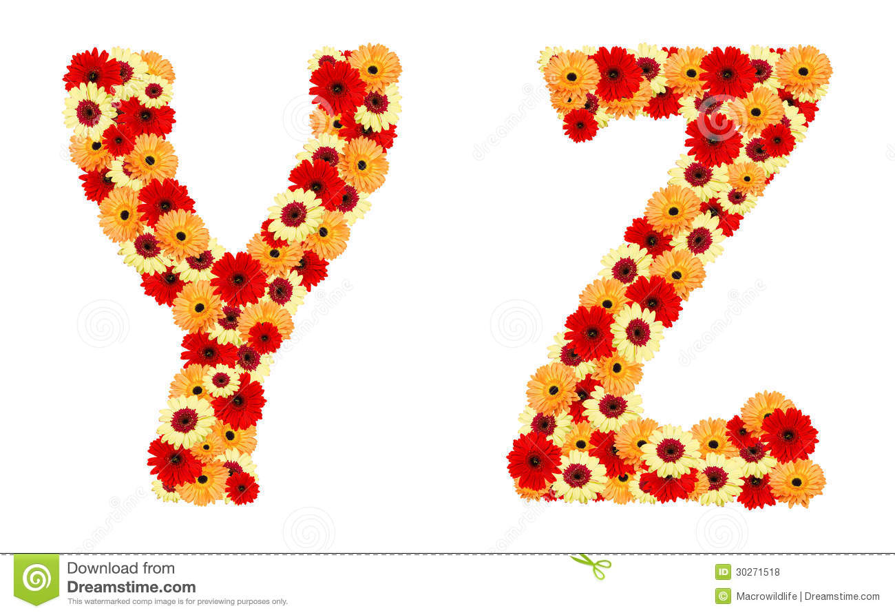 Letters With Flower Decoration