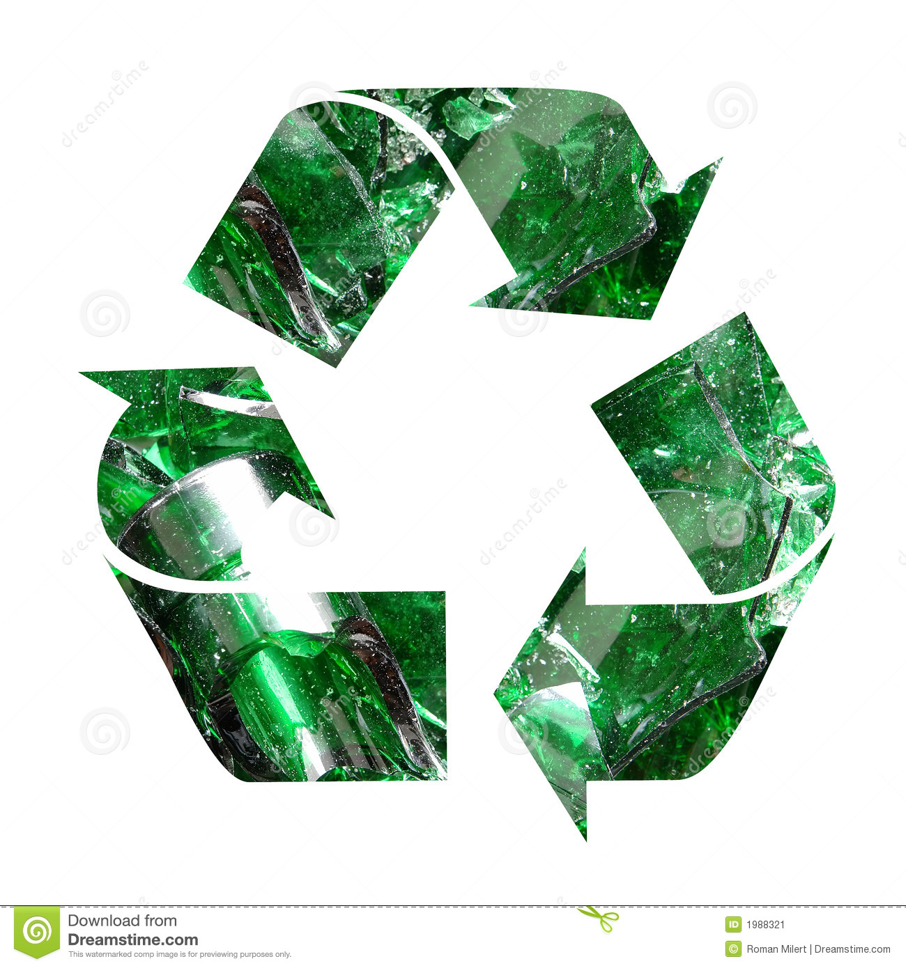 Color Glass Recycling Stock Illustration Illustration Of Protection