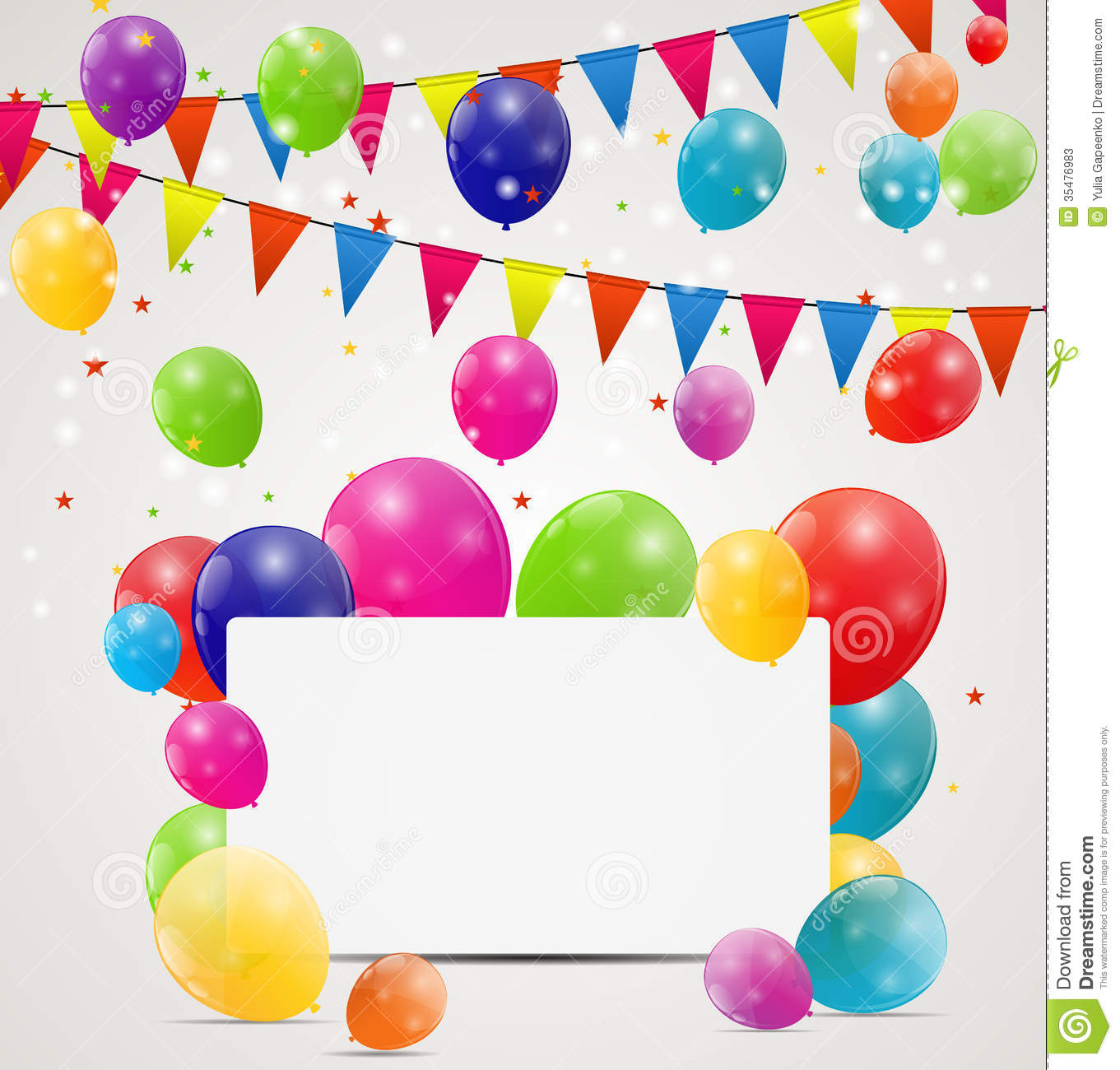 Color glossy balloons birthday card background stock vector color glossy balloons birthday card background bunch design bookmarktalkfo Choice Image