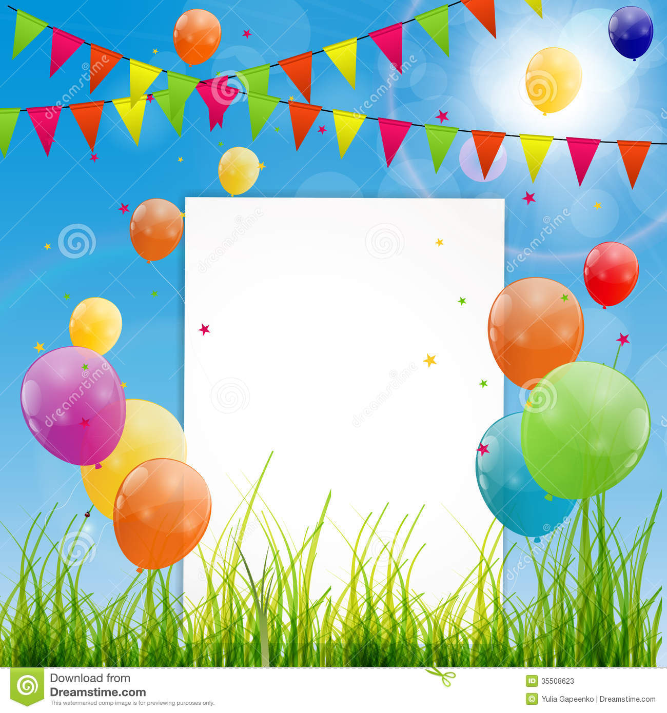 Color glossy balloons birthday card background stock vector color glossy balloons birthday card background festival carnival bookmarktalkfo Choice Image