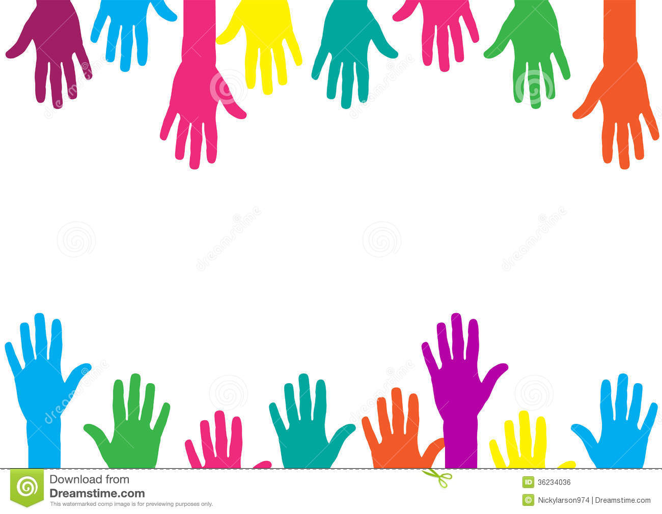 Color Hands Background Stock Vector. Illustration Of