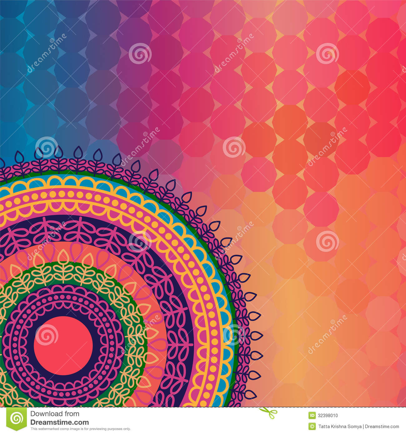 color henna mandala background ilustraci243n del vector