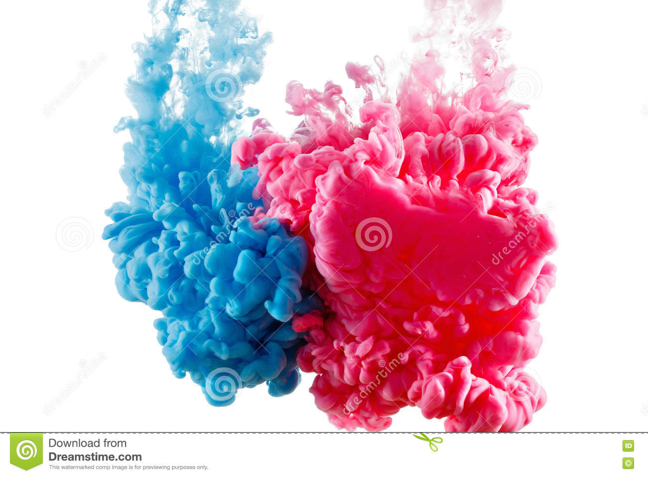 Download Color Ink Paint In Water, Photographed Motion, Isolated On White. Stock Image - Image of liquid, photography: 78242201