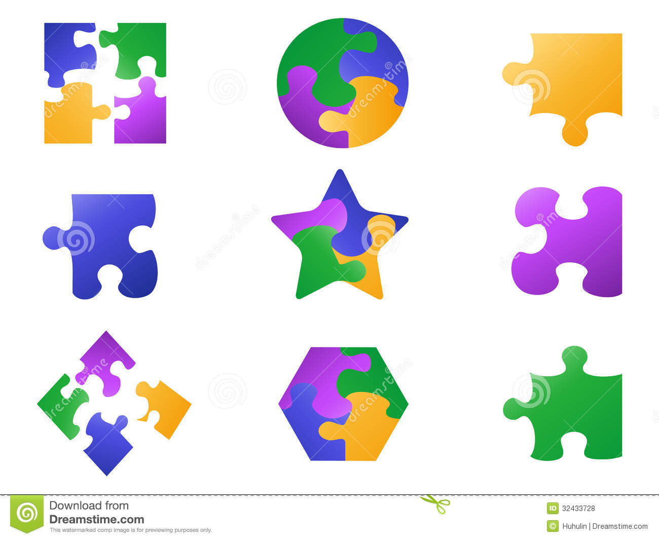 color jigsaw puzzle icon royalty free stock photos image 32433728