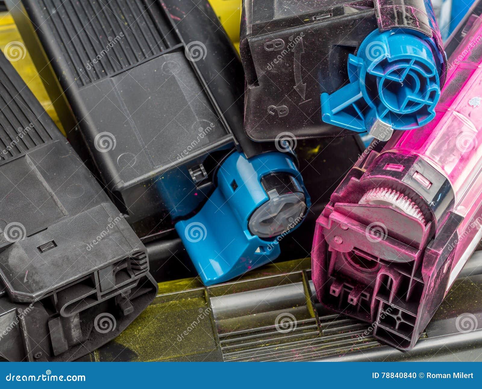 Color laser printer toner cartridges
