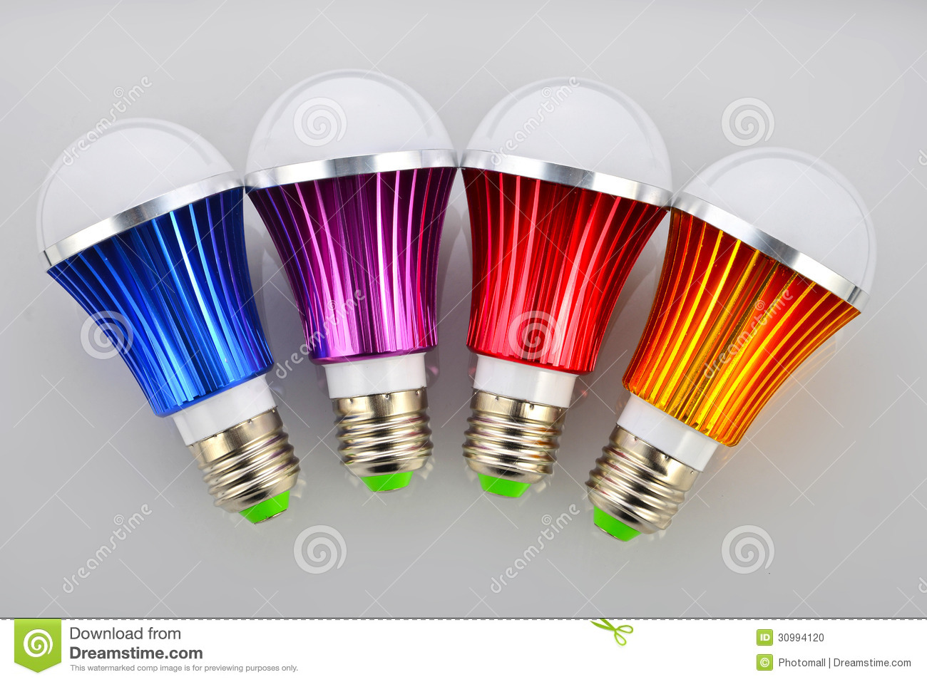 Download Colorful LED Light Bulbs,Led Lamp Bulb Green Light Source Green  Lighting Energy Saving