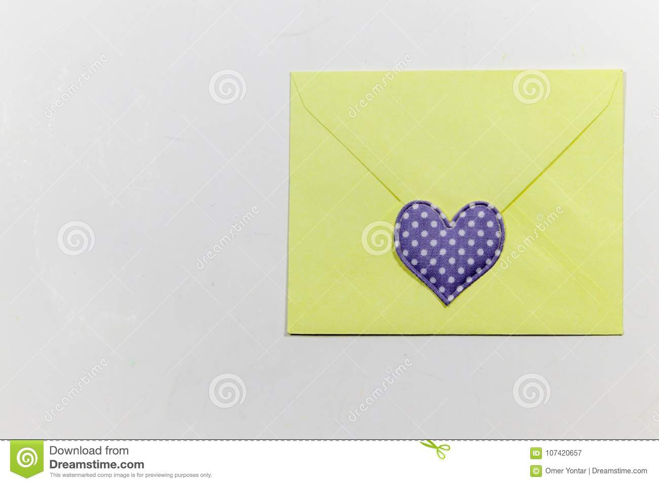 color letter envelopes and colored hearts stock image image of