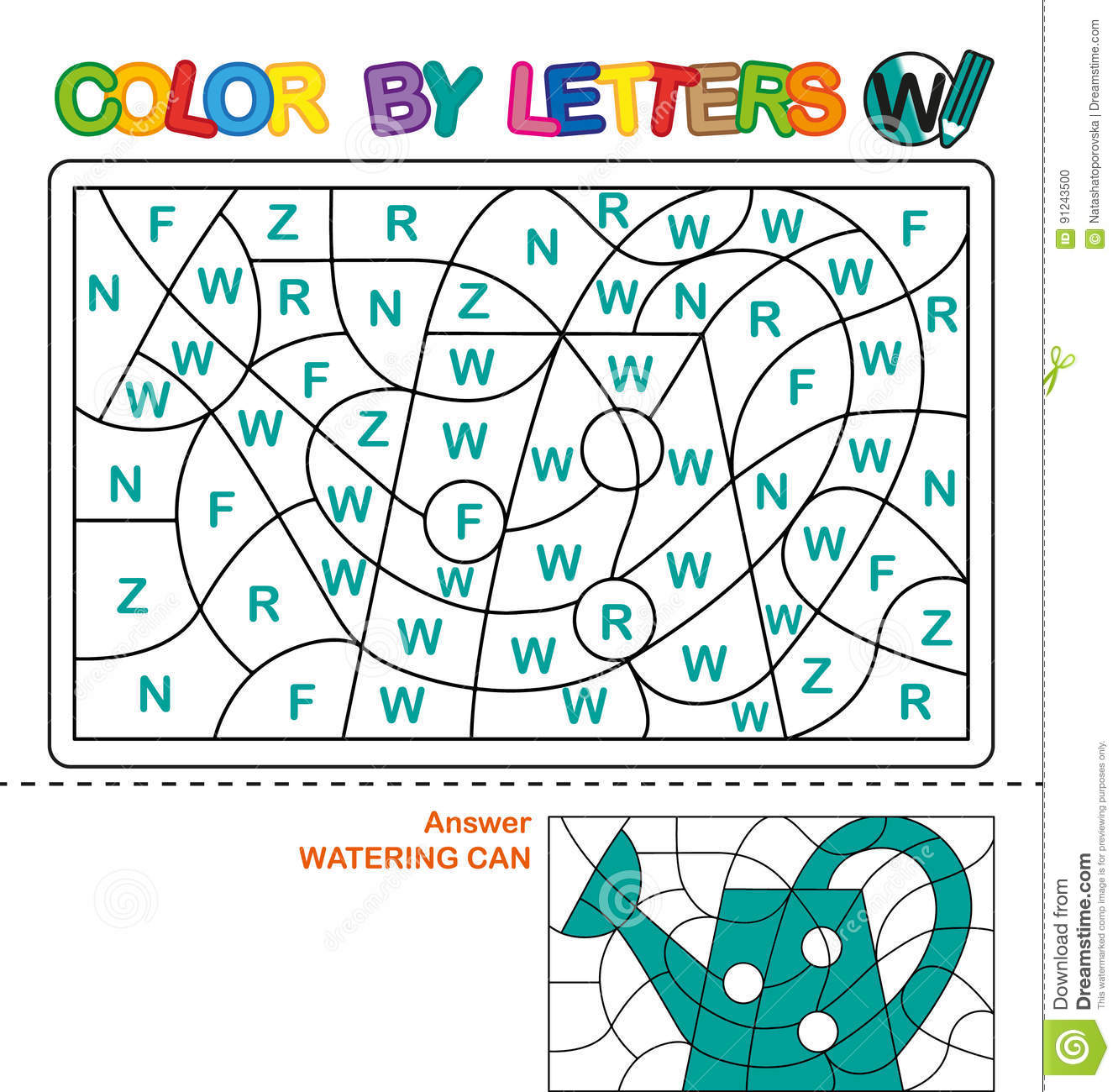 Color By Letters. Learning The Capital Letters Of The Alphabet ...