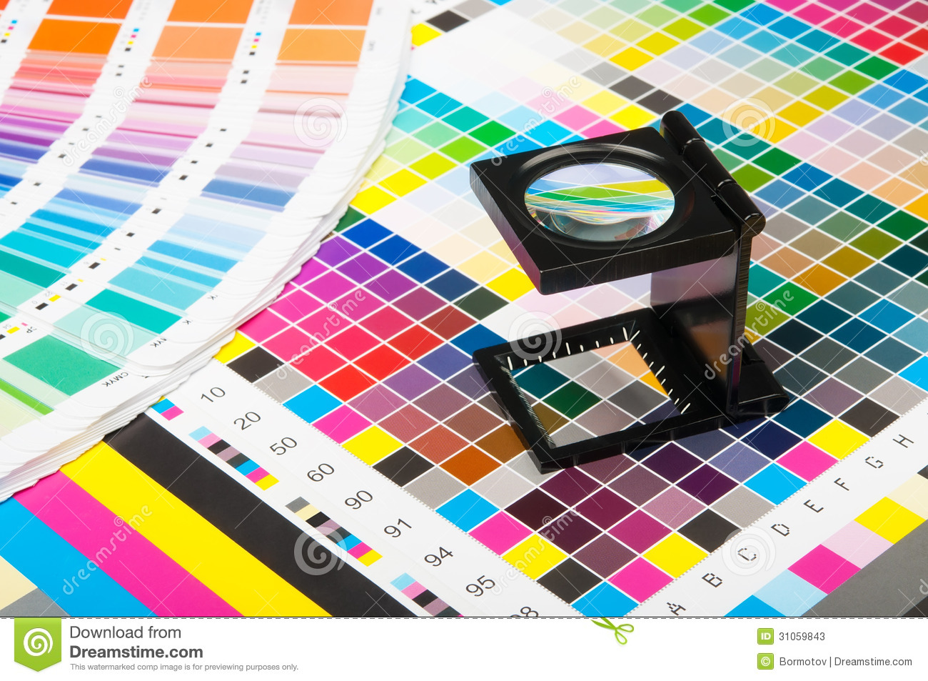 Color Management In Print Production Stock Image - Image of coloring ...