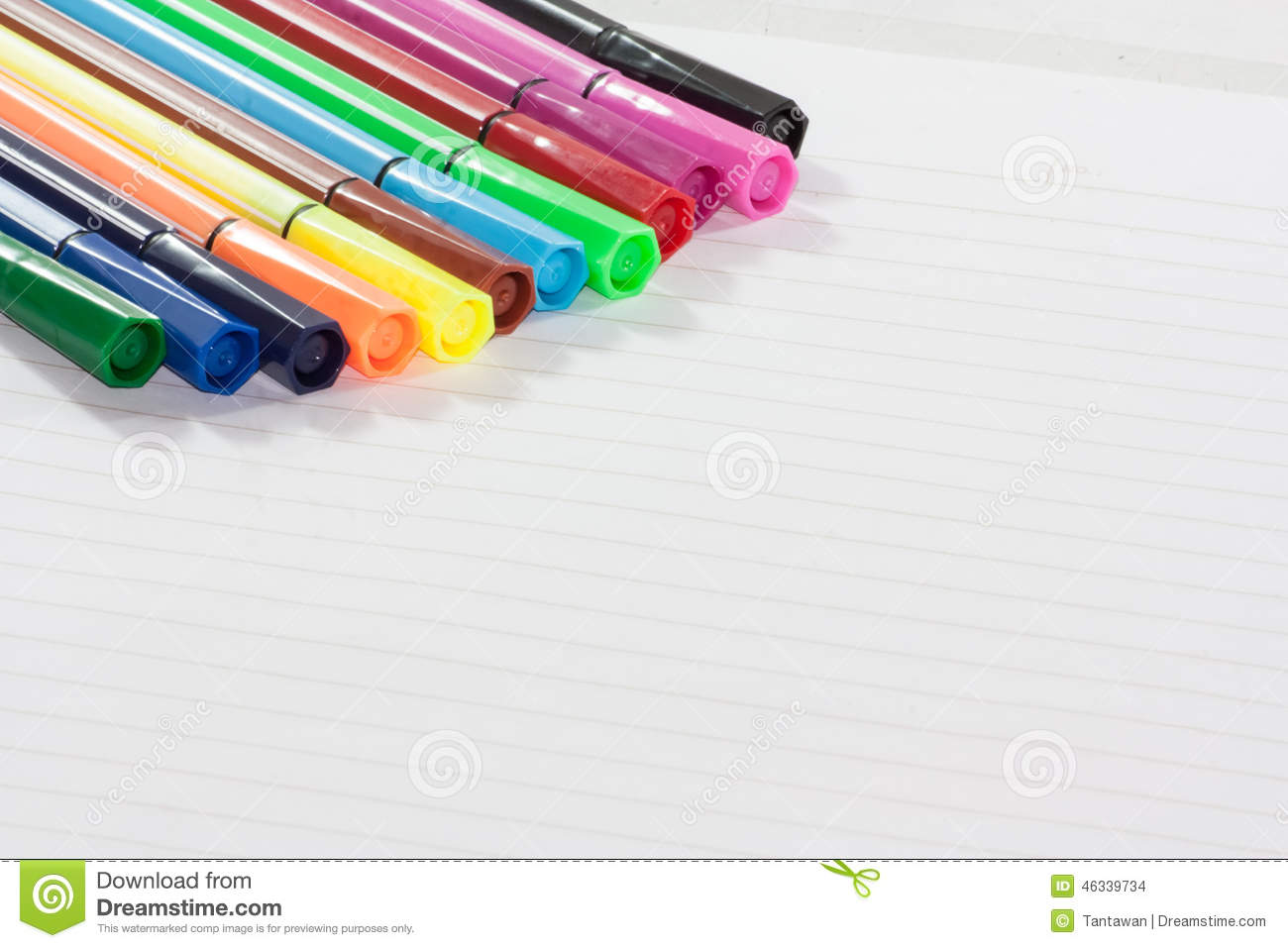Color markers stock photo. Image of coloring, highlighter ...