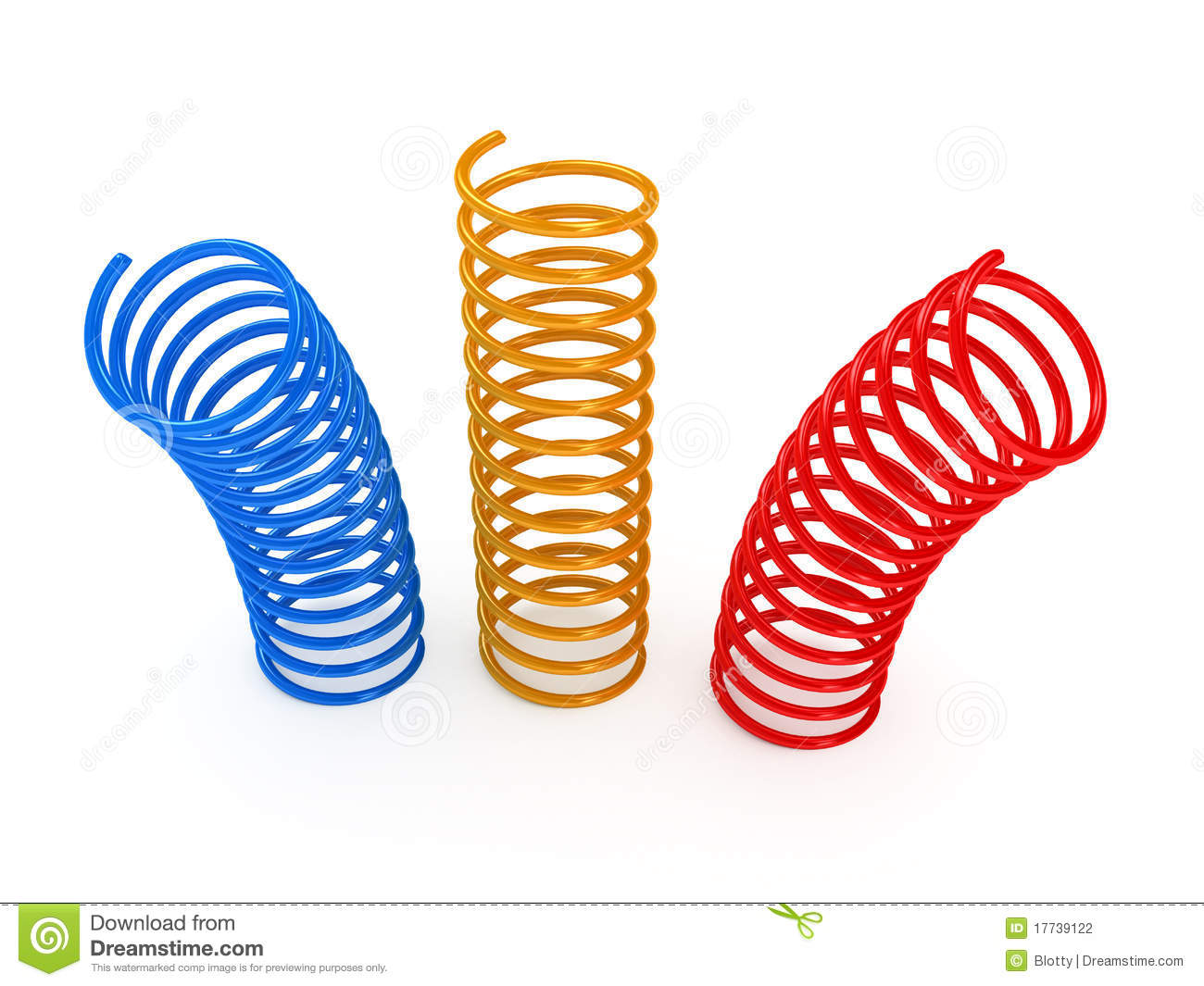 Color Metal Spring Over White Background Stock Photography - Image ...