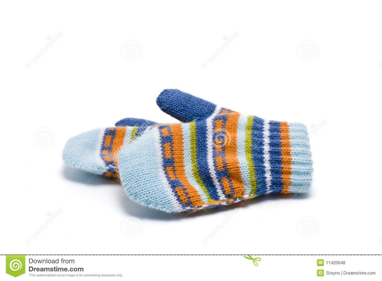 Color Mittens Royalty Free Stock Photos