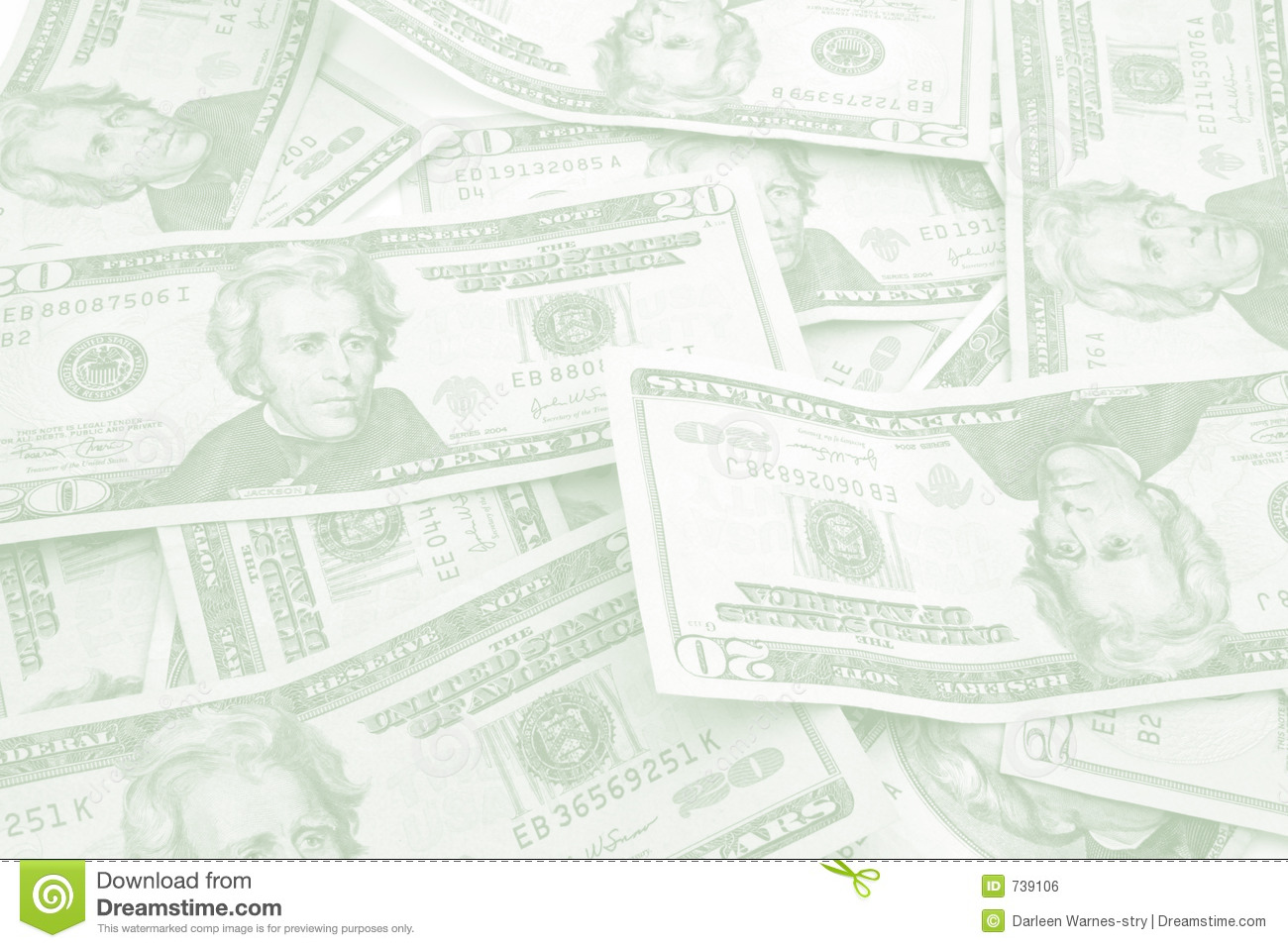 Color Of Money Background And Stationery Stock Photo