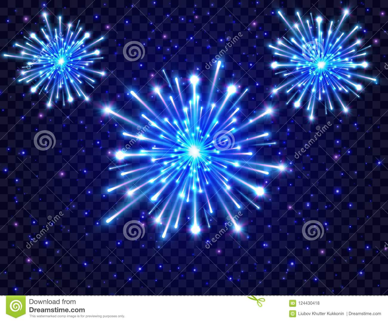 color neon fireworks in the night sky bright fireworks on transparent background new year