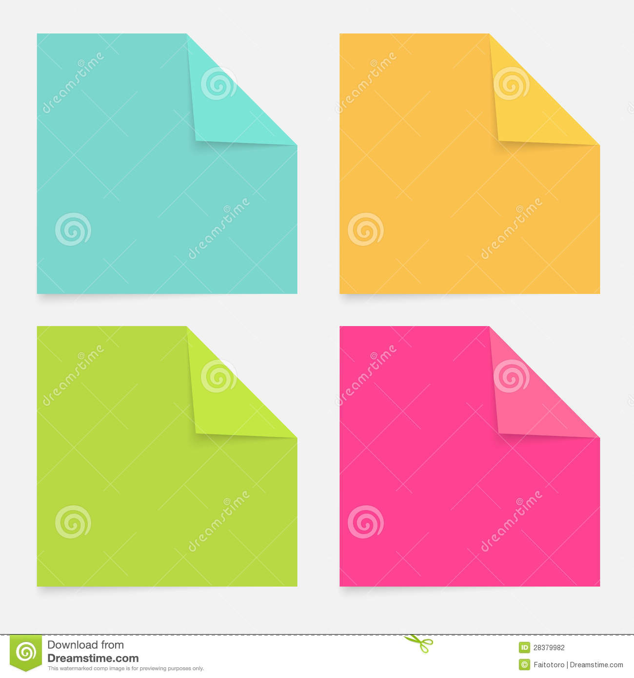Color Notepad Stock Photography