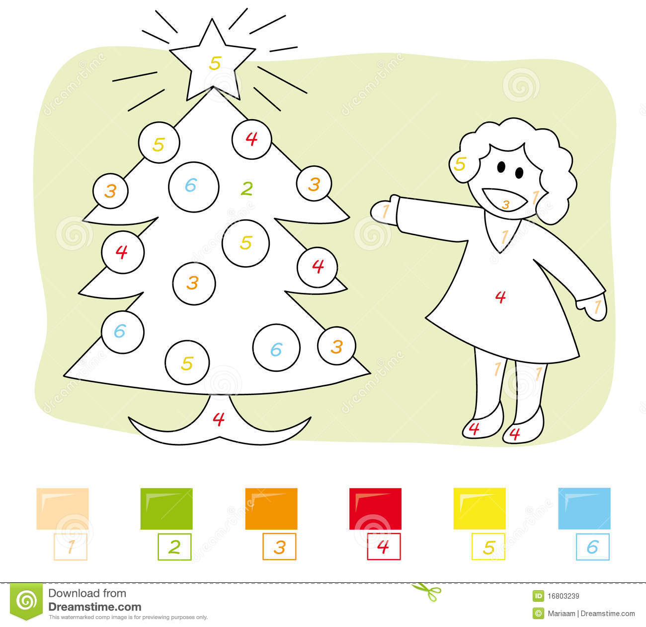 Game color by numbers - Color By Number Game Christmas Tree