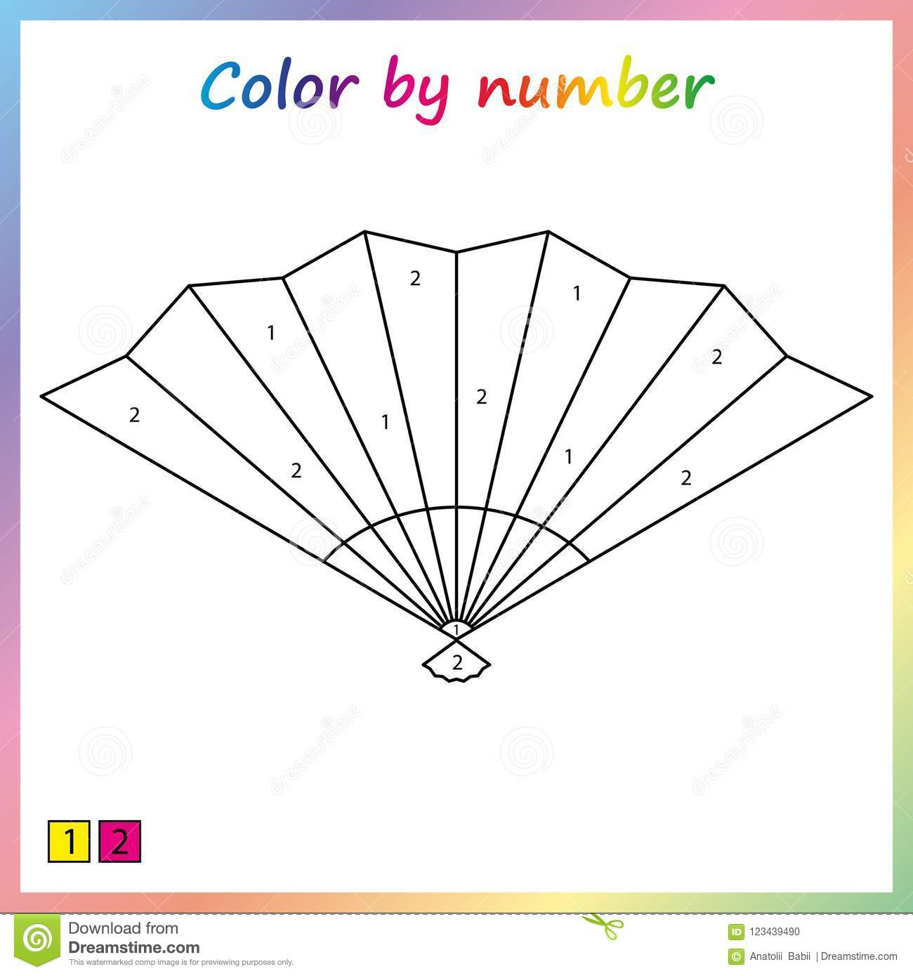 Worksheet For Education. Painting Page, Color By Numbers. Game For ...