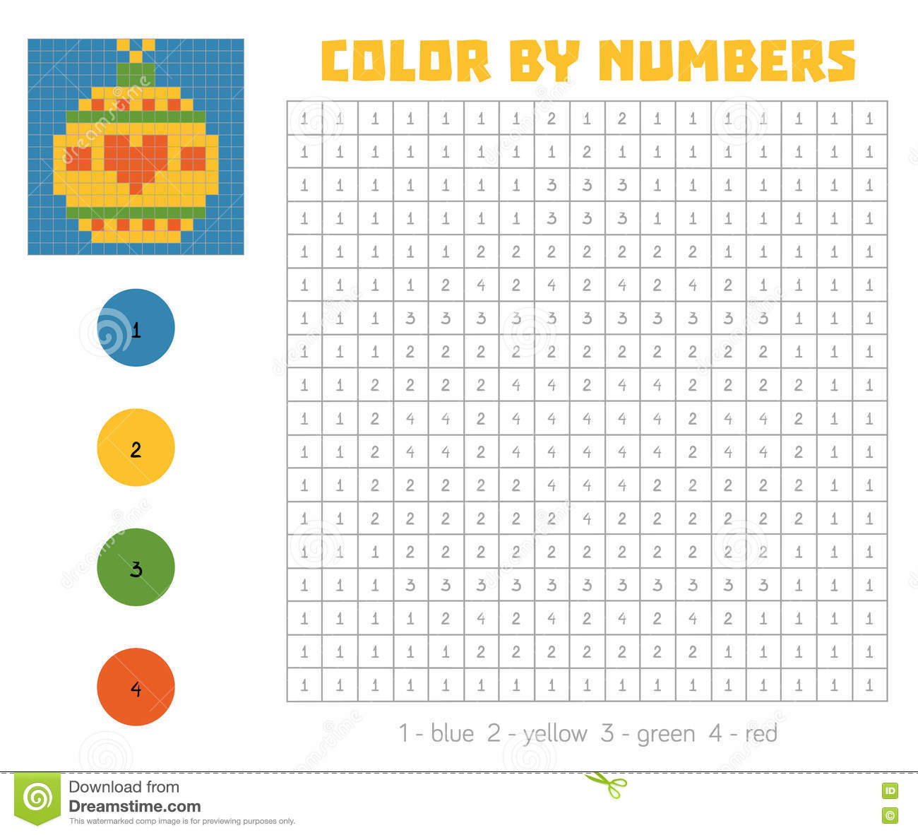 Color By Number Game Christmas