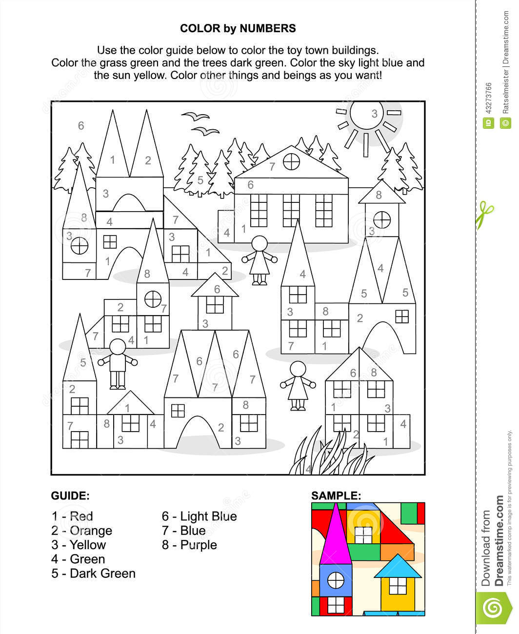 building blocks coloring pages - photo#45