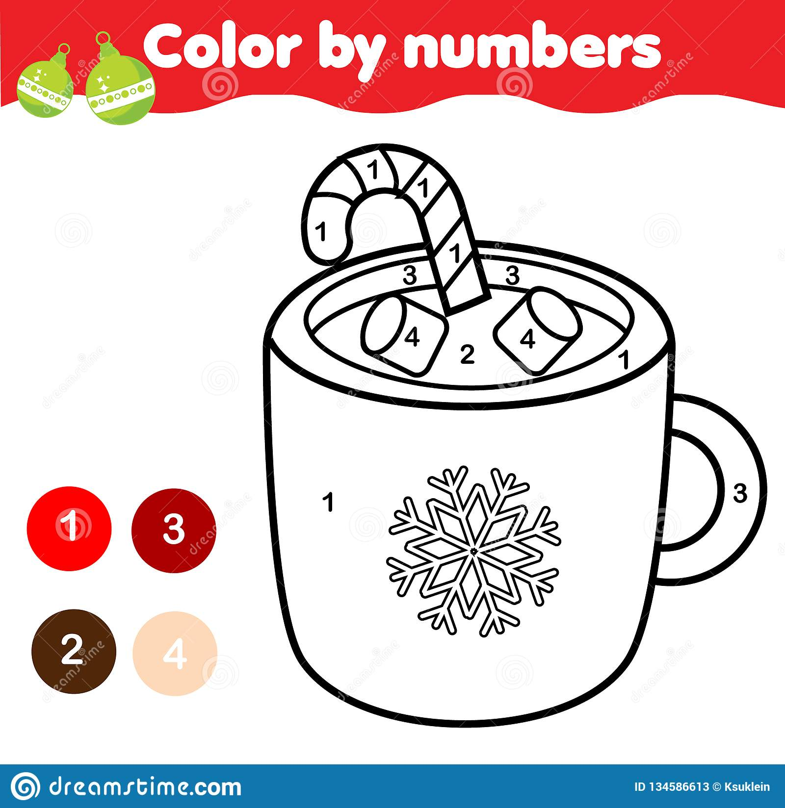 photograph regarding Christmas Numbers Printable known as Coloration By means of Figures For Youngsters. Useful Match For Youngsters