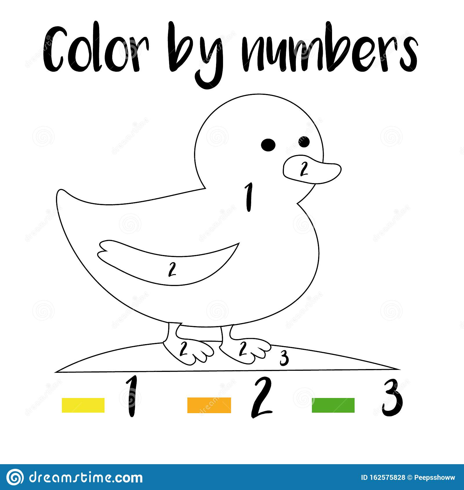 Color By Numbers Printable Worksheet Educational Game For Children Toddlers And Kids Pre School Age Stock Vector Illustration Of Classes Abstract 162575828