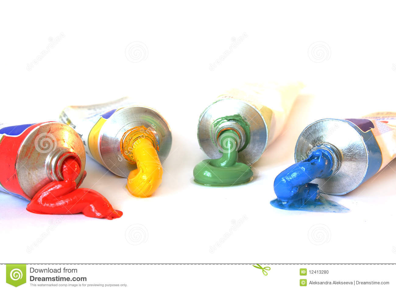 Color Oil Paint In Tubes Stock Photo Image 12413280