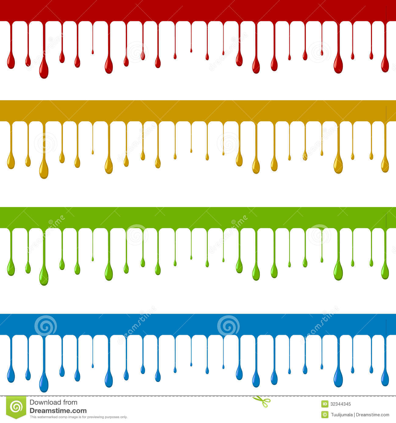 Color paint down flow stock vector. Illustration of creative - 32344345