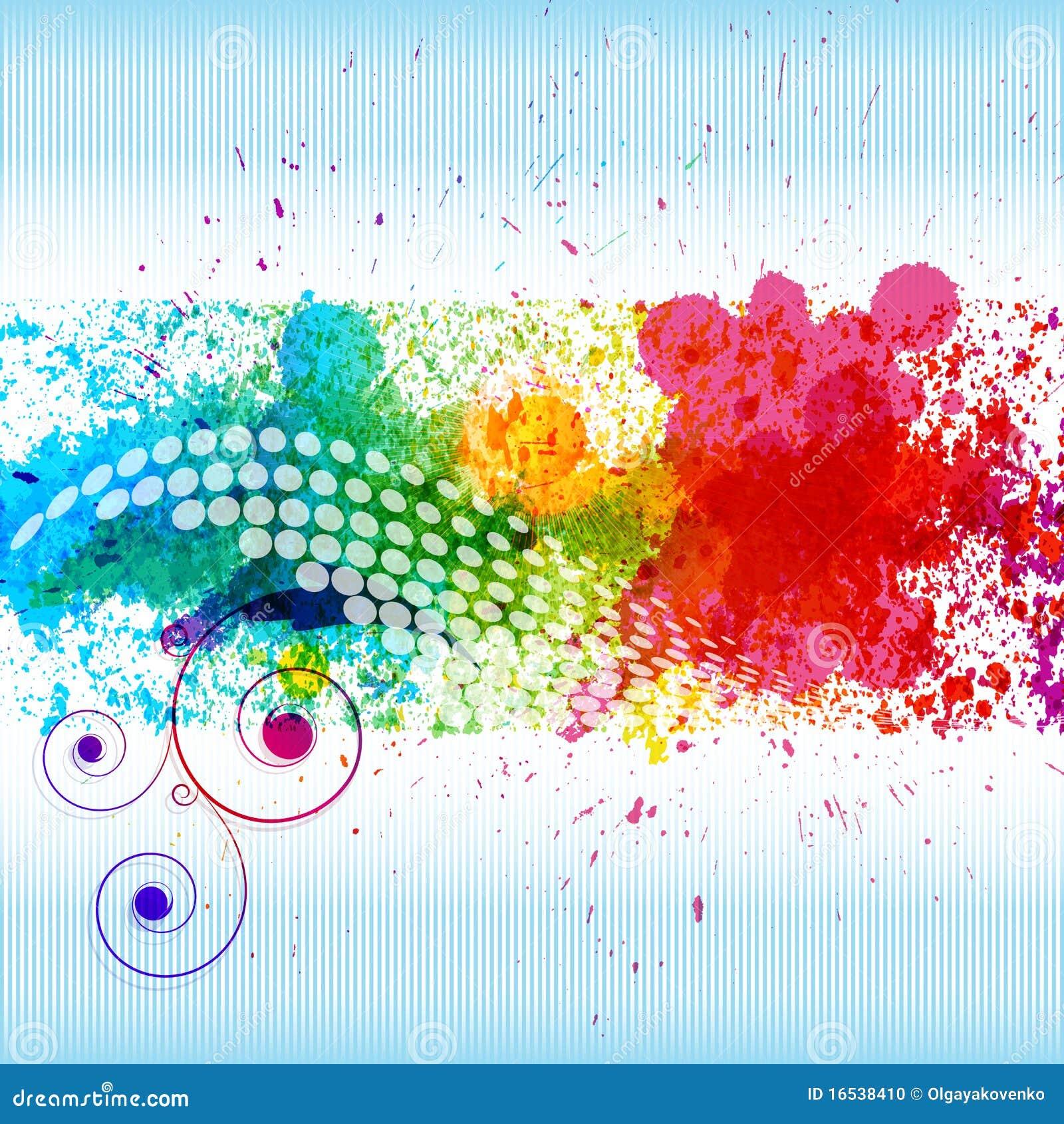 Color Paint color paint splashes. stock photo - image: 16538410