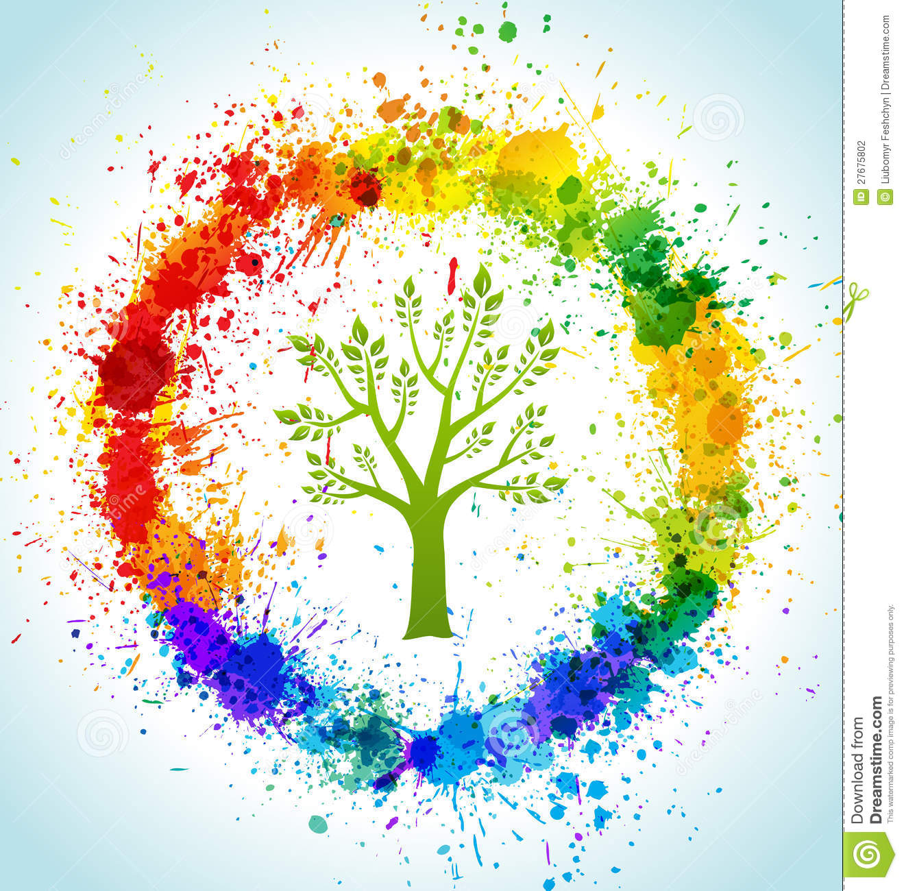 Color paint splashes eco background stock photography for Eco friendly colours for painting