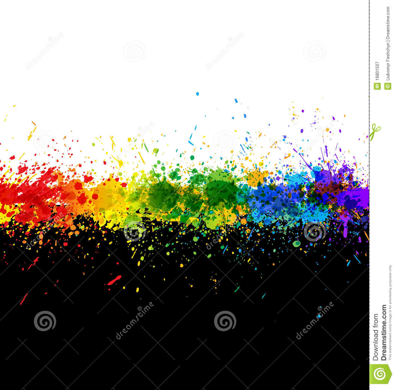 Color Paint Splashes Gradient Background Royalty Free